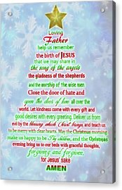 The Christmas Prayer Acrylic Print by Dan Sproul
