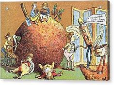 The Christmas Pudding A Victorian Christmas Card  Acrylic Print
