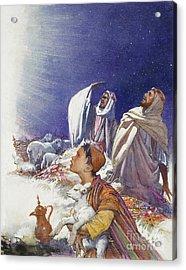 The Christmas Story The Shepherds' Tale Acrylic Print by John Millar Watt