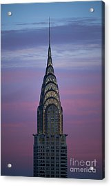 The Chrysler Building At Dusk Acrylic Print by Diane Diederich