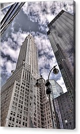 The Chrysler Building In Nyc Usa Acrylic Print by Robert Ponzoni