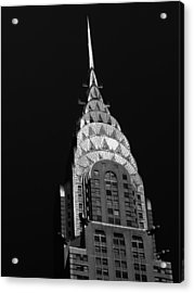 The Chrysler Building Acrylic Print by Vivienne Gucwa