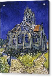 Acrylic Print featuring the painting The Church At Auvers by Van Gogh