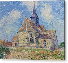 The Church At Porte-joie On The Eure Acrylic Print by Gustave Loiseau
