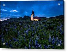 The Church At Vik Acrylic Print