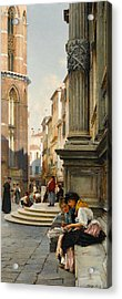 The Church Of The Frari And School Of San Rocco, Venice Acrylic Print by Henry Woods