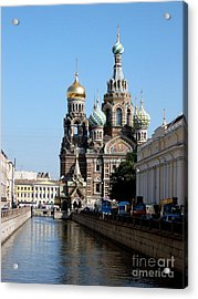 Acrylic Print featuring the photograph The Church Of The Spilled Blood by Robert D McBain