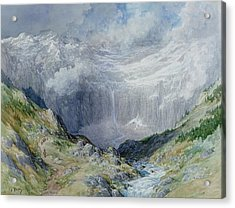The Cirque At Gavarnie Acrylic Print by Gustave Dore
