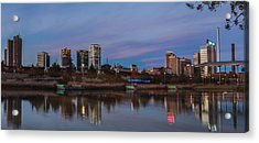 The City At Sunset Acrylic Print by Phillip Burrow