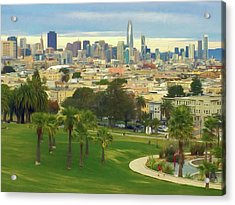 The City From Dolores Park Acrylic Print