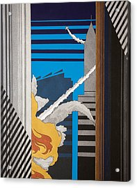The City Is No Longer Safe Acrylic Print by Benjamin Winans