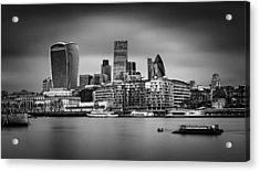 The City Of London Mono Acrylic Print