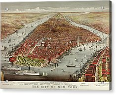 The City Of New York Acrylic Print by American School