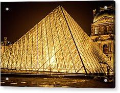 The City Of Paris At Night Acrylic Print