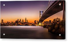 The City Of Philadelphia Acrylic Print by Marvin Spates