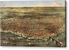 The City Of St. Louis, Circa 1874 Acrylic Print