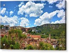 Acrylic Print featuring the photograph The City Of Tarragona And A Beautiful Sky by Eduardo Jose Accorinti
