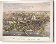 The City Of Washington Acrylic Print by Charles Richard Parsons