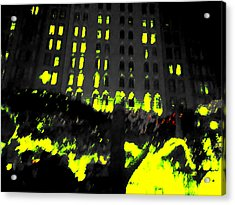 The City Acrylic Print by Nature Macabre Photography
