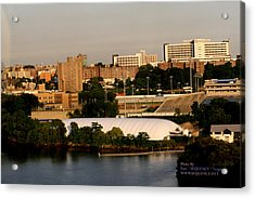 Acrylic Print featuring the photograph The City by Paul SEQUENCE Ferguson             sequence dot net