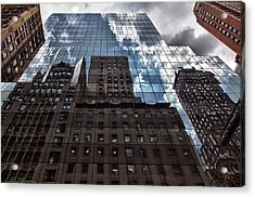 The City Acrylic Print by Robert Ullmann