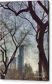 The City Through The Trees Acrylic Print