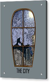 The City Window Acrylic Print by Simone Pompei