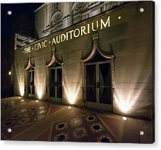 The Civic Auditorium Acrylic Print