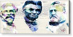 Acrylic Print featuring the mixed media The Civil War by Lisa McKinney