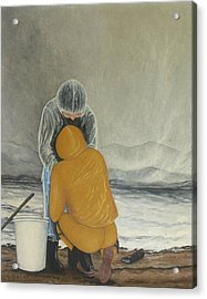 The Clamdigger Acrylic Print by Georgette Backs