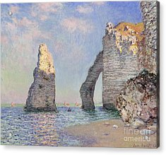 The Cliffs At Etretat Acrylic Print by Claude Monet