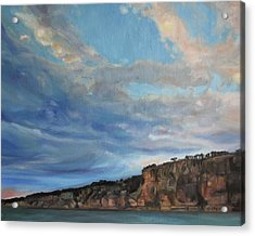 The Cliffs Acrylic Print by Emily Olson