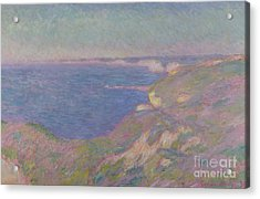 The Cliffs Near Dieppe Acrylic Print by Claude Monet