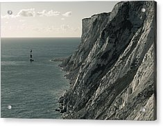 The Cliffs Of Beachy Head And The Lighthouse Acrylic Print by Luka Matijevec