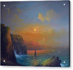 Ireland The Cliffs Of Moher  Acrylic Print by Joe Gilronan