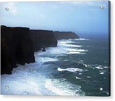 The Cliffs Of Mohr Ireland Acrylic Print by Richard Singleton