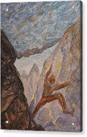 The Climber Acrylic Print by Michael Kopf