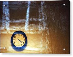 The Clock Of My Dreams Running Backwards Acrylic Print by Marcus Hammerschmitt