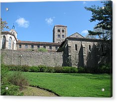 The Cloisters Castle Acrylic Print by Hasani Blue
