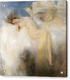 The Cloud Acrylic Print by Arthur Hacker