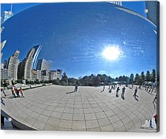 The Cloud Gate In Chicago Acrylic Print