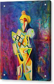 Acrylic Print featuring the painting The Clown by Kim Gauge