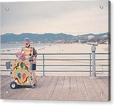 The Clown Acrylic Print by Nastasia Cook
