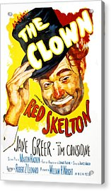 The Clown, Red Skelton, 1953 Acrylic Print by Everett