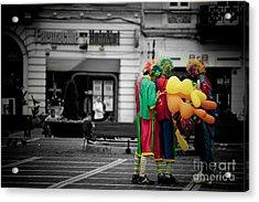 The Clown's Conspiracy Acrylic Print by Gabriela Insuratelu