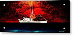 The Clyde Phillips At Sea Acrylic Print by Barry Knauff