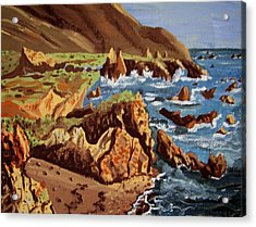 Acrylic Print featuring the painting The Coast by Judy Via-Wolff