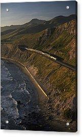 The Coast Starlight Train Snakes Acrylic Print by Phil Schermeister