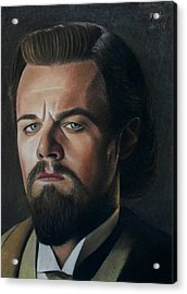 The Cold Expression - Leonardo Dicaprio Acrylic Print