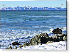 The Cold North Atlantic Acrylic Print by Barbara Griffin